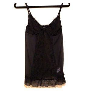 DKNY black lace chemise